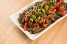 Black Pepper Beef Stir- Fry