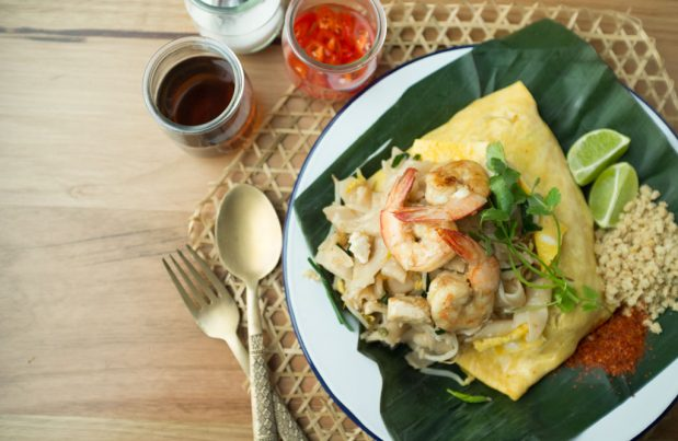 pad thai wrapped in egg recipe by Asian Inspirations