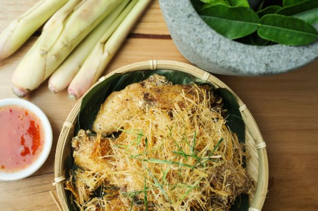 Fried Chicken with Lemongrass (Gai Tod Takrai)