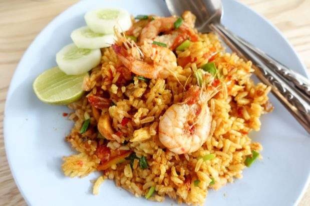 Yellow Curry Fried Rice with Prawns (Kao Pad Gaeng Garee Kung)