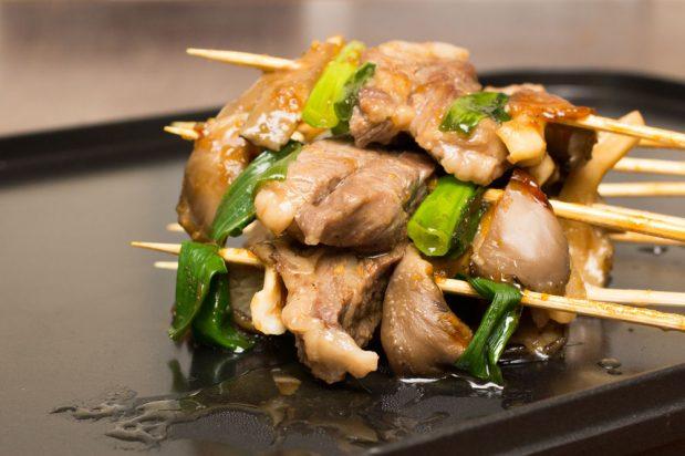 Korean Beef and Mushroom Skewers (Songi Sanjeok Gui)