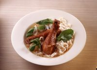 Rice Noodle Soup with  Soy Chicken