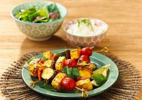 Vegetarian Yellow Curry BBQ Skewers