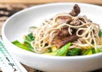 Beef in Oyster Sauce with Soba Noodles