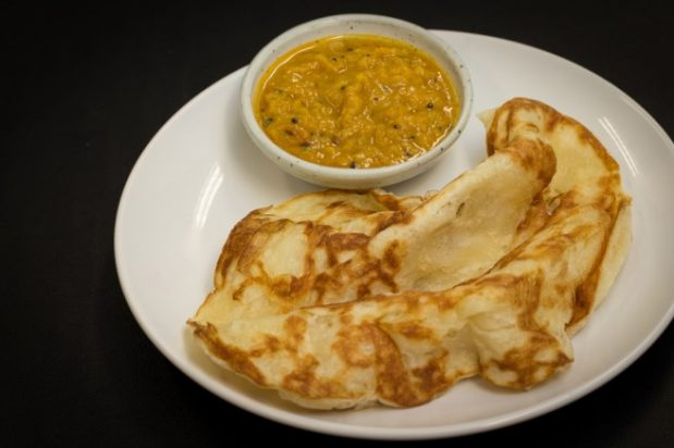 Roti Canai and Dhal Curry