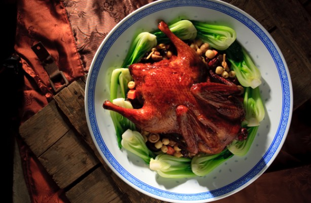 Braised Duck with Mixed Vegetables