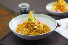 Northern Thai Curry Noodle with Chicken (Khao Soi)