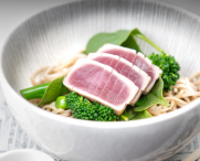 Seared Tuna on Soba Noodles