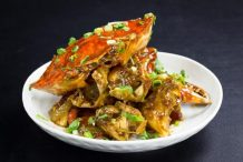 Fried Crabs with Marmite Sauce