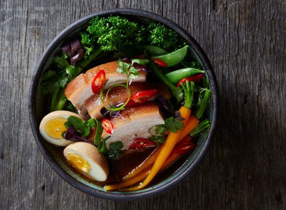Slow-cooked Pork Belly (Moo Sam Chun Tom Khem)