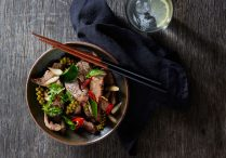 Stir Fried Beef in Fresh Chili, Baby Rhizome and Young Peppercorn (Pad Cha Beef)