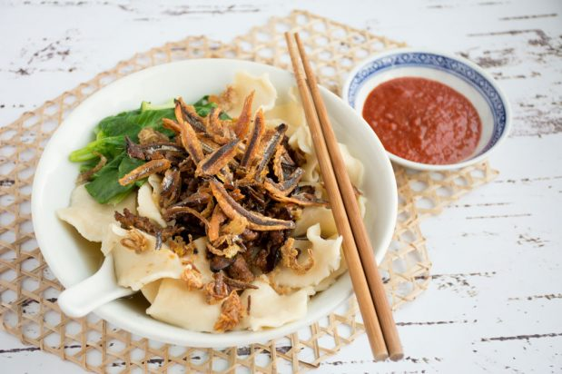 Malaysian Hand-Torn Noodles (Hand-Torn Pan Mee)