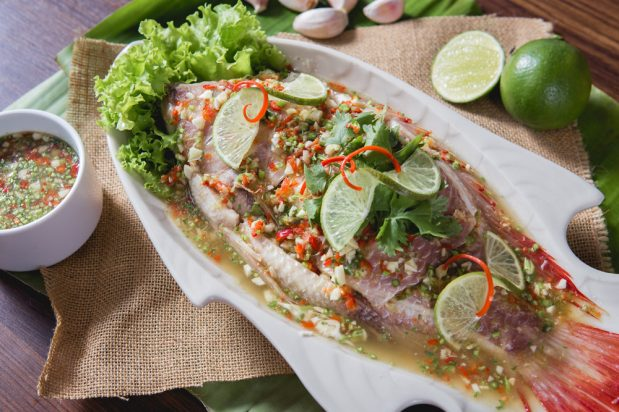 Thai Steamed Fish with Chilli and Lime