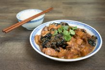 Hakka Braised Pork Belly with Wood-Ear Fungus (Char Yoke)