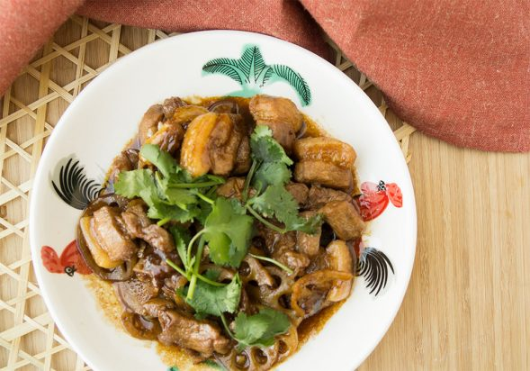 Braised Pork Belly with Lotus Root