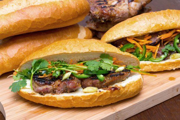 Banh Mi with Lemongrass Pork (Banh Mi Thit Nuong)