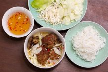 Hanoi Style Rice Vermicilli with Grilled Pork (Bun Cha Hanoi)