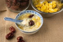 Dried Beancurd with Gingko and Barley Dessert (Fu Chuk Yi Mai)
