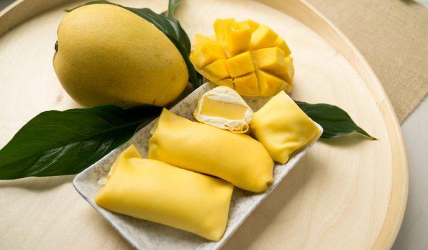 Yum Cha-Style Mango Pancakes