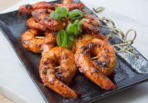Spicy Grilled Shrimp Skewers (Gochujang Saewu Gui)