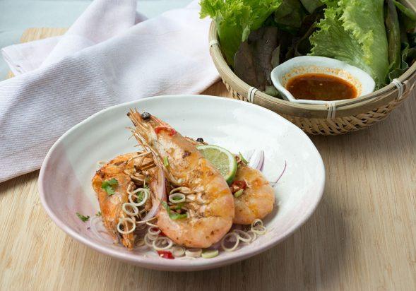 Spicy Grilled Shrimp Salad (Pla Goong)