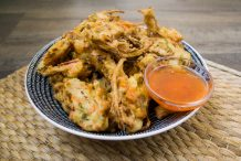 Vegetable and Anchovy Fritters (Cucur Sayur Ikan Bilis)
