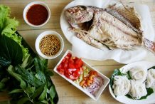 Thai Leaf Wrapped Grilled Fish (Miang Pla Pao)