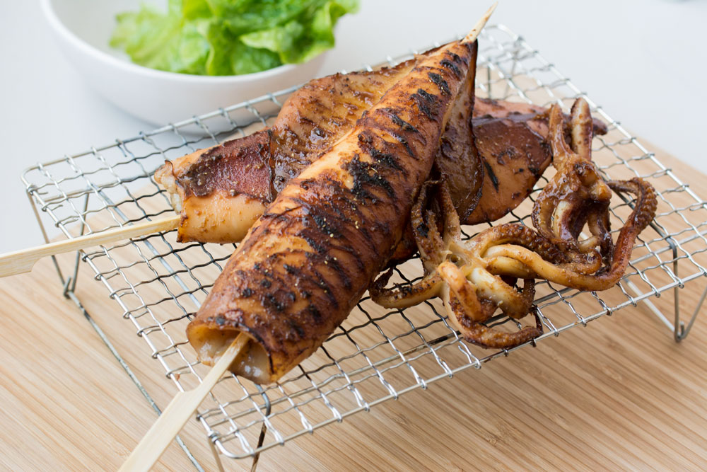 Japanese Grilled Squid (Ikayaki) | Asian Inspirations