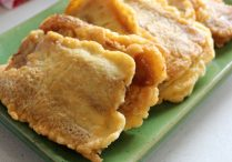 Chinese Lunar New Year Cake (Deep Fried Nian Gao with Egg)