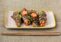 Easy Carrot & Enoki Beef Rolls