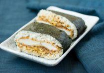 Chicken Katsu Sushi Sandwich (Chicken Katsu Onigirazu)