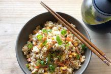 Japanese Salmon Fried Rice