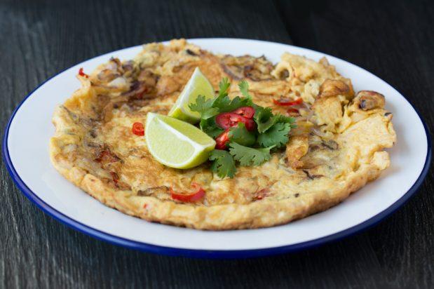 Eggs with Fermented Shrimp (Cincalok Omelette)