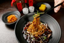 Korean Noodles in Black Bean Sauce (Jajangmyeon)