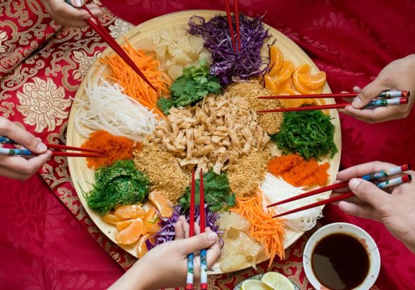 Prosperity Toss Salad (Yu Sheng)