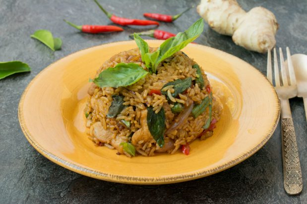 Thai Basil Fried Rice (Khao Pad Horapa)