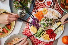 Korean Mix Vegetables and Seafood in Mustard Sauce (Yang Jang Pi)
