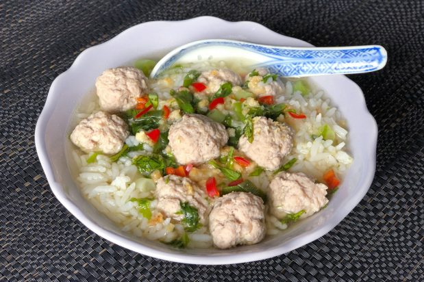 Thai Rice Soup with Pork (Khao Tom Moo)
