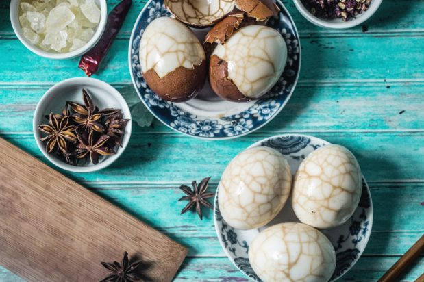 Marbled Herbal Tea Eggs
