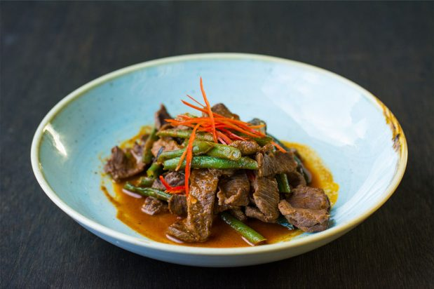 Stir-Fried Red Curry Lamb (Pad Prik Khing Lamb)