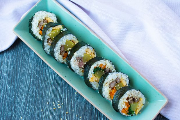 Seaweed Rice Rolls (Gimbap)