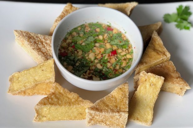 Fried Tofu with Chilli Sauce (Tau Hu Tod)