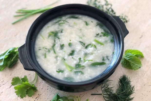 Japanese Seven Herb Rice Congee (Nanakusa Gayu)