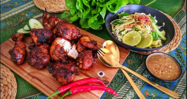 Ayam Panggang Kecap and Karedok