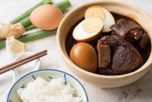 Braised Pork Trotters with Eggs
