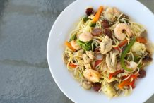 Filipino Stir Fried Noodles (Pancit Bam-I)