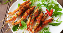 Char-grilled Sweet Chilli Garlic Prawns
