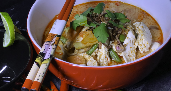 chicken laksa recipe by Asian Inspirations