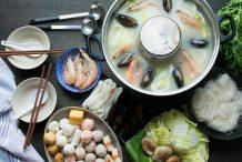 Vietnamese Seafood Hot Pot (Lau Do Bien)