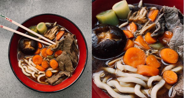 Simple Sukiyaki Beef Udon